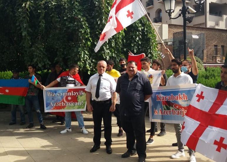 Action in support of Azerbaijan in Georgia (PHOTOS)