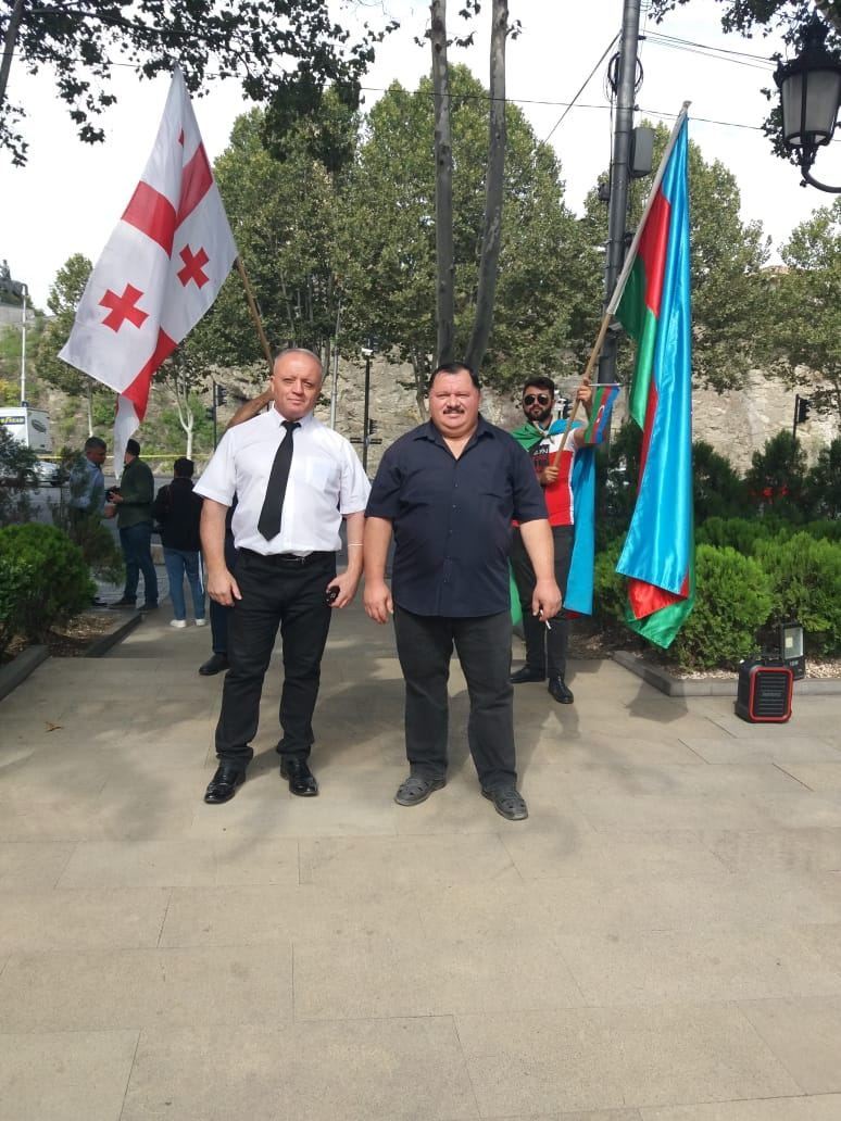 Action in support of Azerbaijan in Georgia (PHOTOS) - Gallery Image