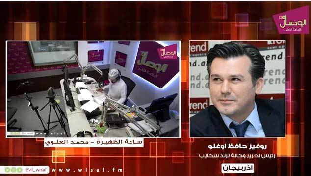 Trend News Agency's chief editor informs Arab world on Karabakh conflict via TV, radio programs (PHOTO/VIDEO) - Gallery Image