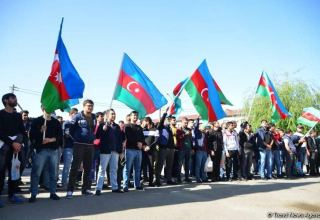 Azerbaijani State Service for Mobilization and Conscription sends hundreds of young volunteers to front (PHOTO)