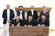 Solemn ceremony of signing number of important documents between Turkmenistan and Afghanistan takes place in Kabul (PHOTO) - Gallery Thumbnail