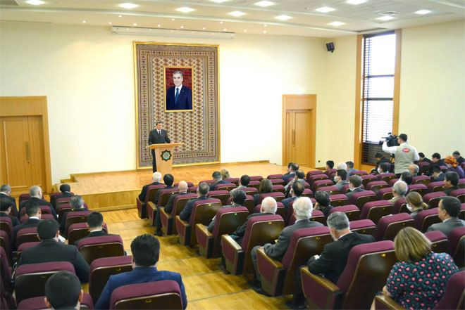 Press-conference dedicated to latest political events in Turkmenistan