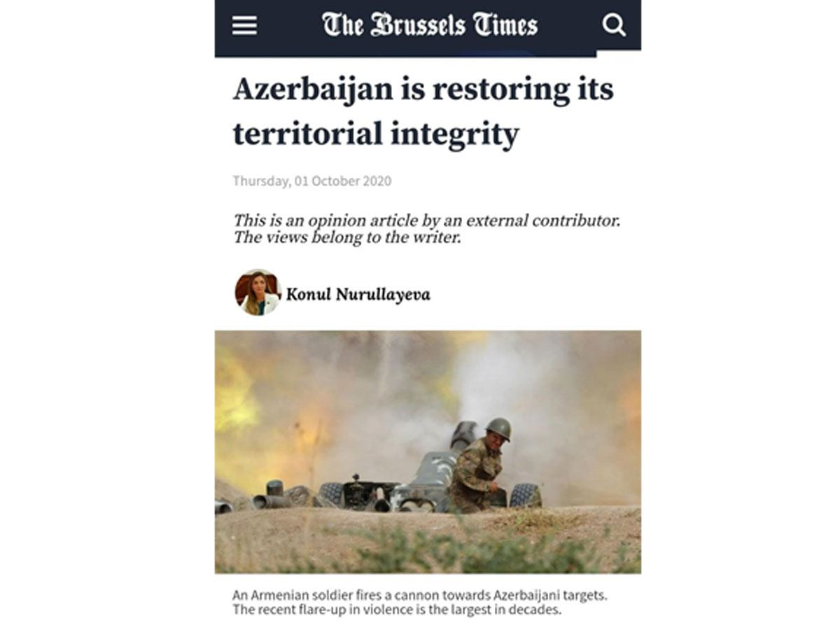 Azerbaijan's fair position on Nagorno Karabakh conflict covered in Belgian press