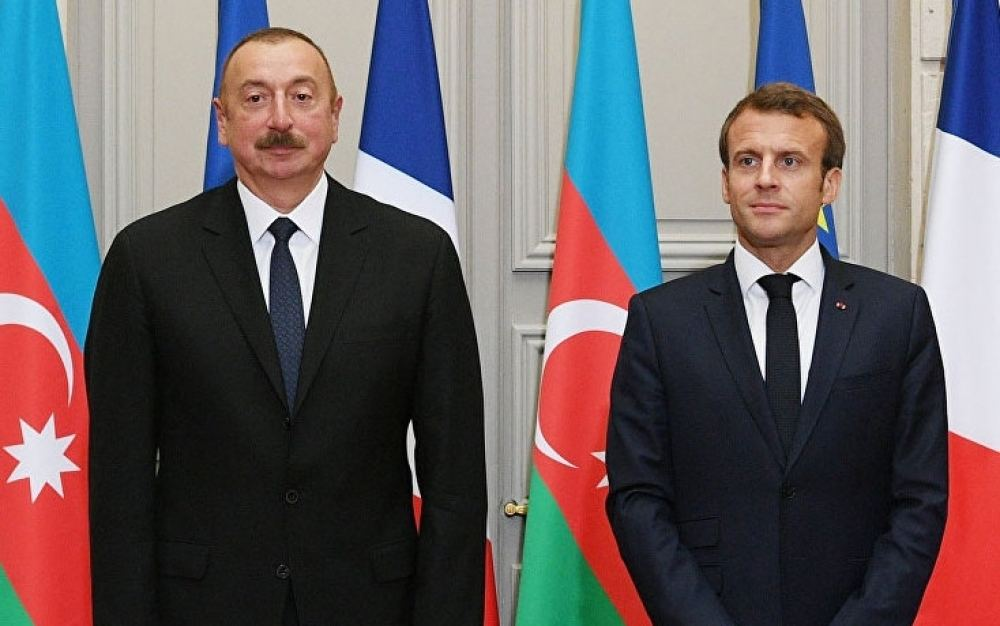 Emmanuel Macron makes phone call to President of Azerbaijan Ilham Aliyev