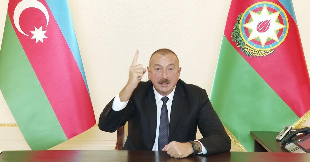 President Ilham Aliyev addresses the people - Gallery Image