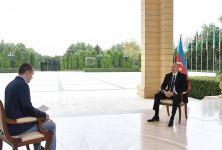 Президент Ильхам Алиев дал интервью телеканалу «Первый Канал» России (ФОТО) - Gallery Thumbnail
