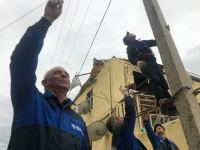 Power lines in Azerbaijani settlements damaged from Armenian shelling (PHOTO) - Gallery Thumbnail
