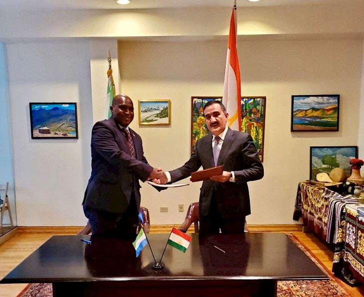 Tajikistan and Sierra Leone establish diplomatic relations