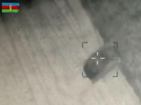 Azerbaijani army destroys Armenian armed forces' military equipment (VIDEO)