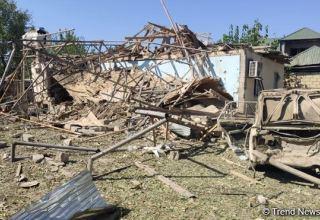 Erməni silahlılarının təcavüzü nəticəsində Füzulinin işğal edilməyən hissəsində 11 ev tam dağılıb - KOMİSSİYA