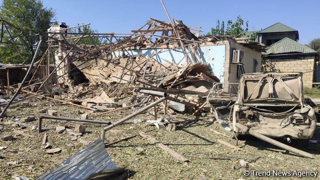 Erməni silahlılarının təcavüzü nəticəsində Füzulinin işğal edilməyən hissəsində 11 ev tam dağılıb -