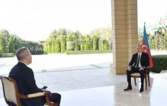 President Ilham Aliyev interviewed by Russian RBC TV channel (PHOTO) - Gallery Thumbnail