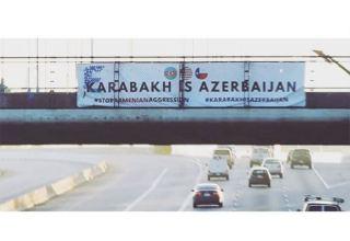 """""""Qarabağ Azərbaycandır!"""" şüarı Hyustonun mərkəzində nümayiş etdirilib"""