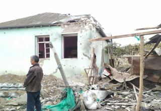 Armenian troops continue shelling Azerbaijan's Aghdam district (PHOTO)