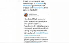 Armenian provocateurs blame French journalists of spreading coronavirus (PHOTO) - Gallery Thumbnail