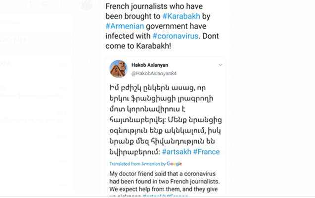 Armenian provocateurs blame French journalists of spreading coronavirus (PHOTO) - Gallery Image