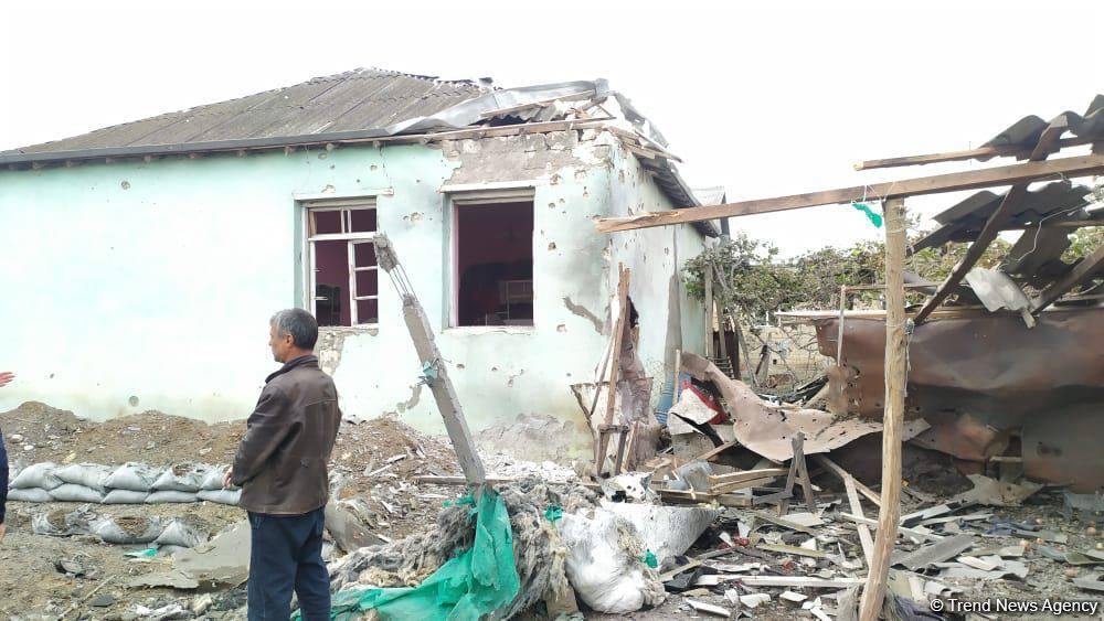 Armenian armed forces again shelling Aghdam district's settlements (PHOTO)