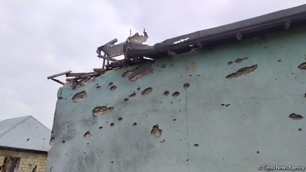 Armenian armed forces again shelling Aghdam district's settlements (PHOTO) - Gallery Image