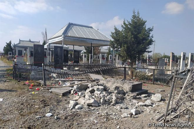 Death toll as result of deliberate shelling of cemetery in Azerbaijan's Tartar by Armenia increases (PHOTO)