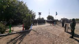 State flag of Azerbaijan raised over border outposts liberated from occupation - Gallery Thumbnail