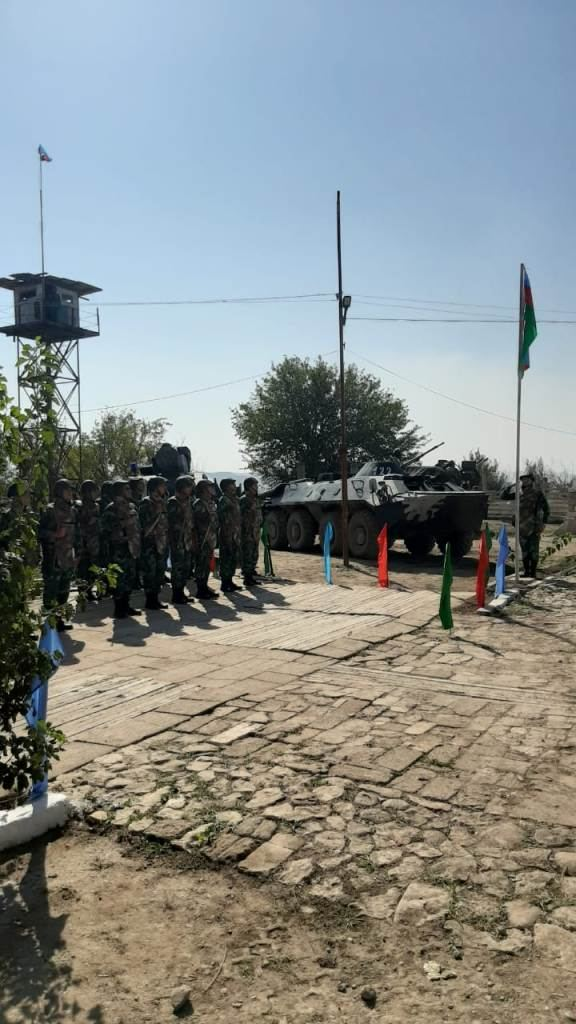 State flag of Azerbaijan raised over border outposts liberated from occupation - Gallery Image