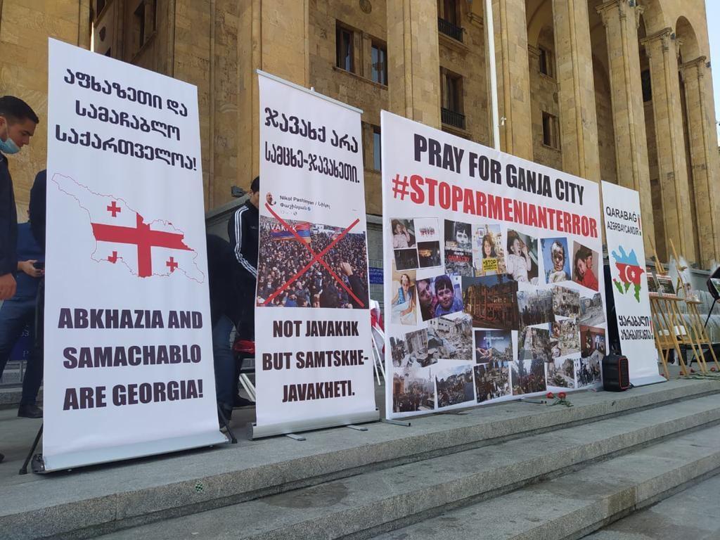 Азербайджанцы Грузии провели акцию протеста (ФОТО) - Gallery Image