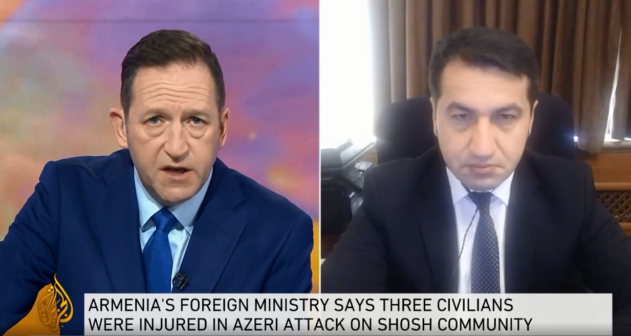 Assistant to Azerbaijani president highlights missile attack on Ganja in interview to Al Jazeera (VIDEO)