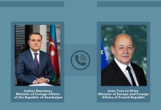 Azerbaijani, French FMs hold phone conversation