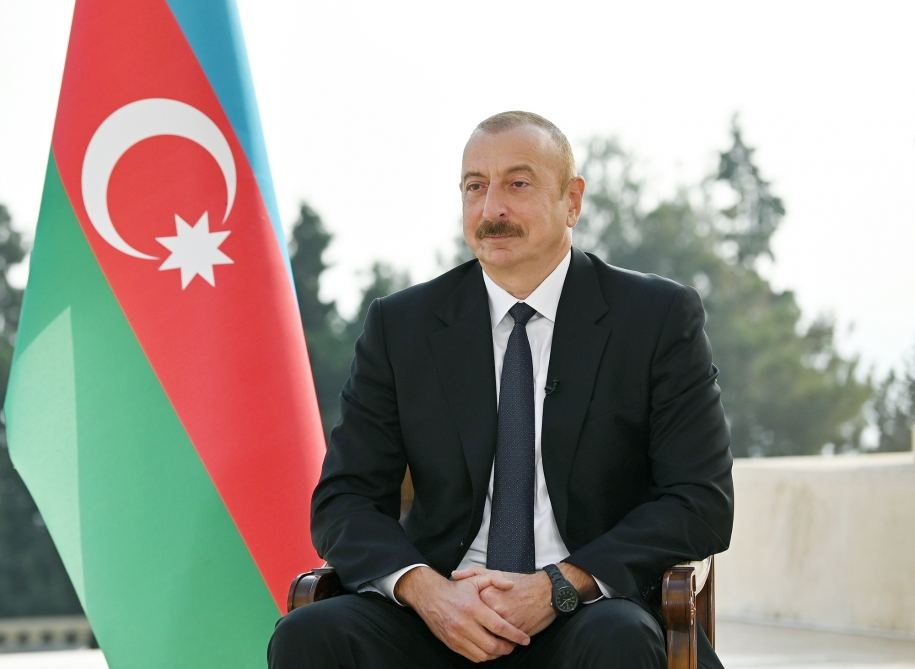 President Aliyev says no country helping Azerbaijan in fight with Armenia
