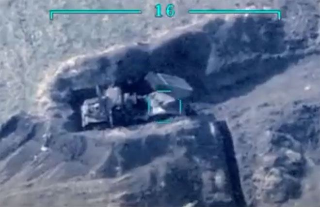 Footage of destruction of Armenian Armed Forces' military equipment, manpower published (VİDEO)