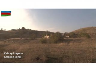 Azerbaijani MoD shows footage of newly-liberated Chereken village (VIDEO)