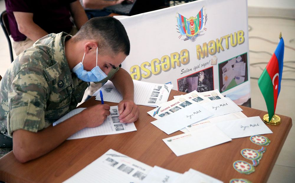 """""""Letter to soldier"""" project held for personnel of Azerbaijani Armed Forces participating in battles - Gallery Image"""