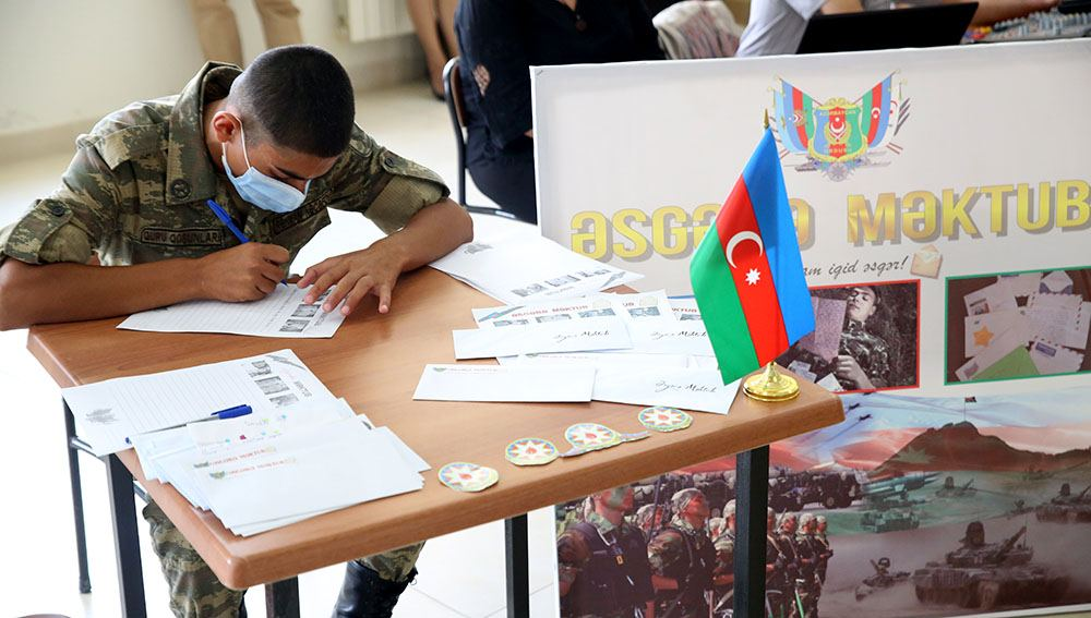 """""""Letter to soldier"""" project held for personnel of Azerbaijani Armed Forces participating in battles"""