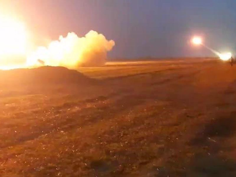 Night, day artillery firings of Azerbaijani Armed Forces (VIDEO)