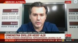Trend News Agency's editor-in-chief tells CNN Turk about ongoing tension in Karabakh (PHOTO/VIDEO) - Gallery Thumbnail