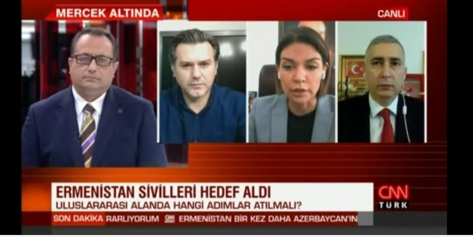 Trend News Agency's editor-in-chief tells CNN Turk about ongoing tension in Karabakh (PHOTO/VIDEO) - Gallery Image