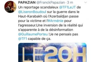 Armenians threatening to kill French TV channel's journalist (PHOTOS)