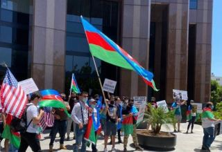 "The slogan ""Karabakh is Azerbaijan"" was raised at the rally of the US President"