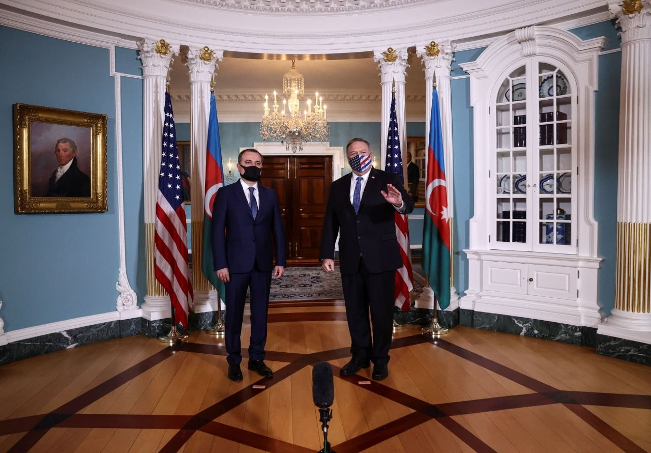 Meeting between Azerbaijani FM and US secretary of state held