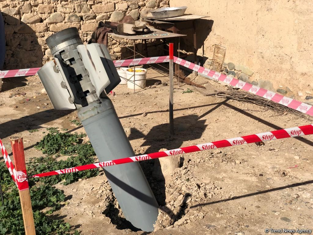 Unexploded missile on territory of Azerbaijan's Goranboy (PHOTO) - Gallery Image