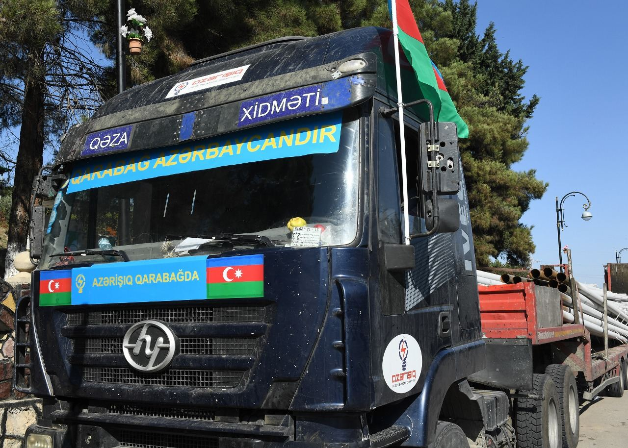 Work on power supply to strategic facilities in freed Azerbaijani territories underway (PHOTO)
