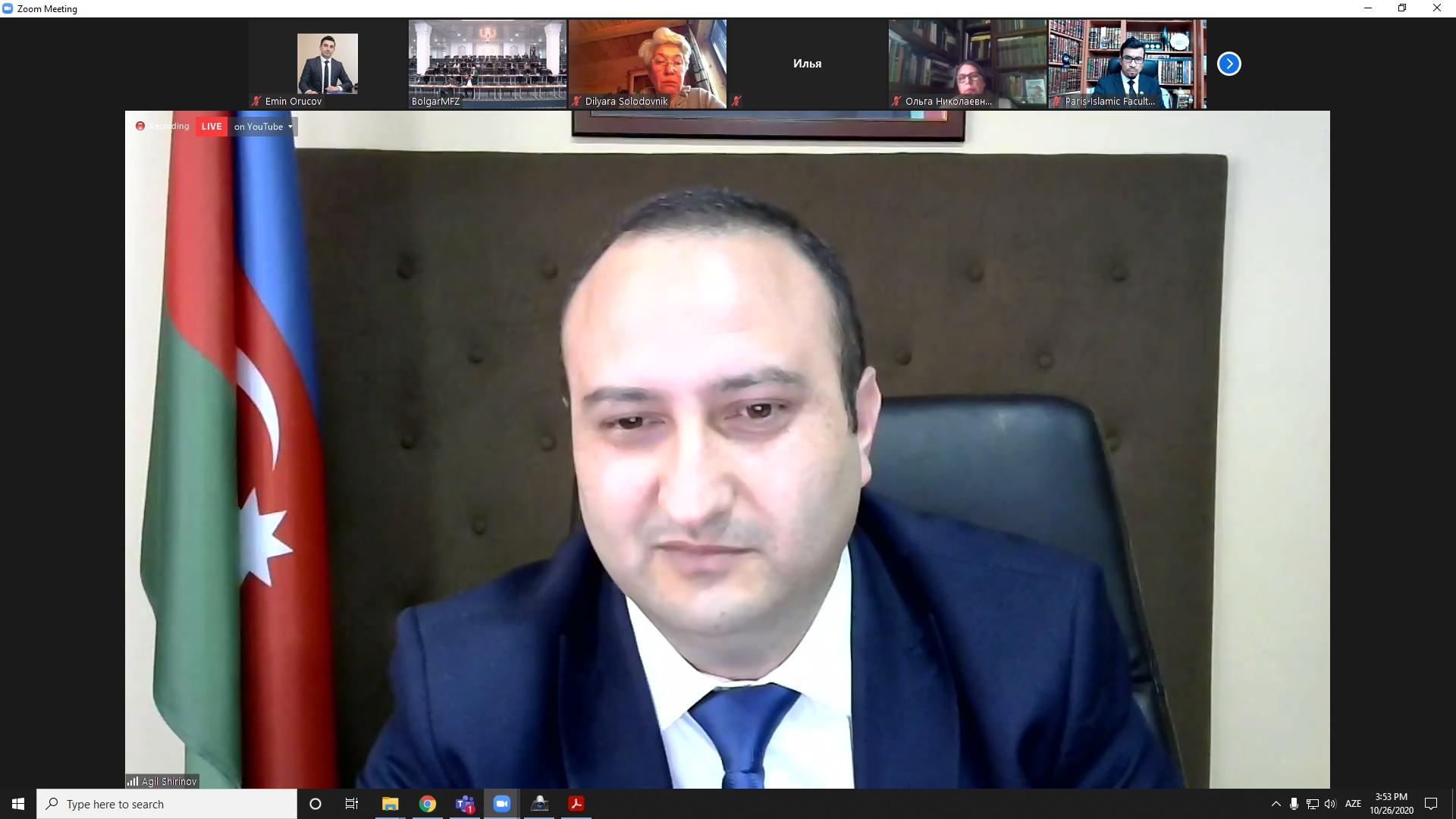 İlahiyyat İnstitutunun rektoru Beynəlxalq Forumda iştirak edib (FOTO)