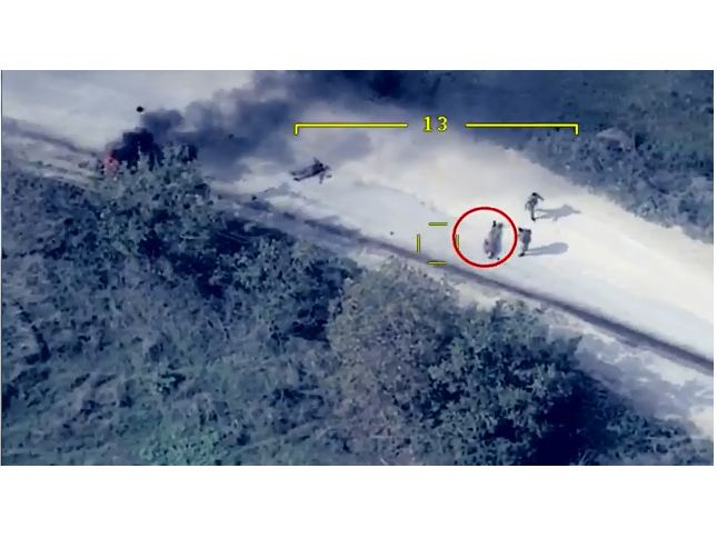 """Video footage shows elimination of """"minister of defense"""" of so-called regime in occupied Nagorno-Karabakh region of Azerbaijan (VIDEO)"""