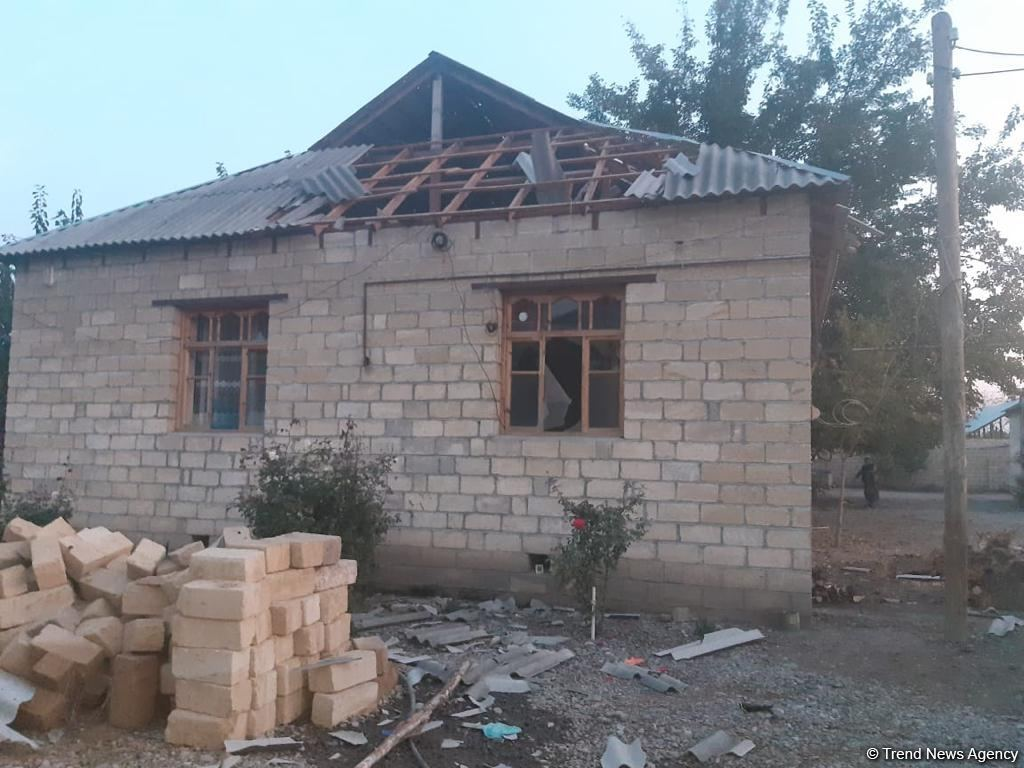 Private houses greatly damaged as result of shelling of Azerbaijan's Barda (PHOTO/VIDEO)
