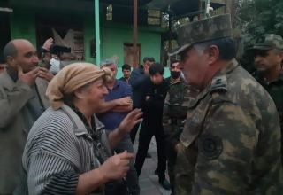 Management of Azerbaijani Emergency Situation Ministry arrive in Barda
