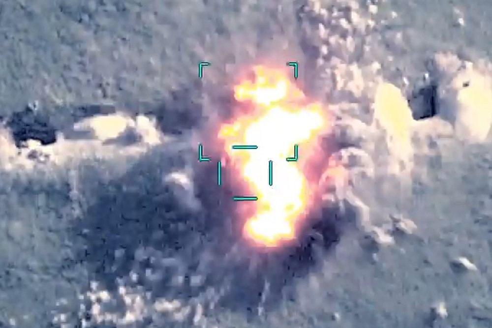 Armenian troops firing at Azerbaijani civilian population destroyed with precise fire (VIDEO)