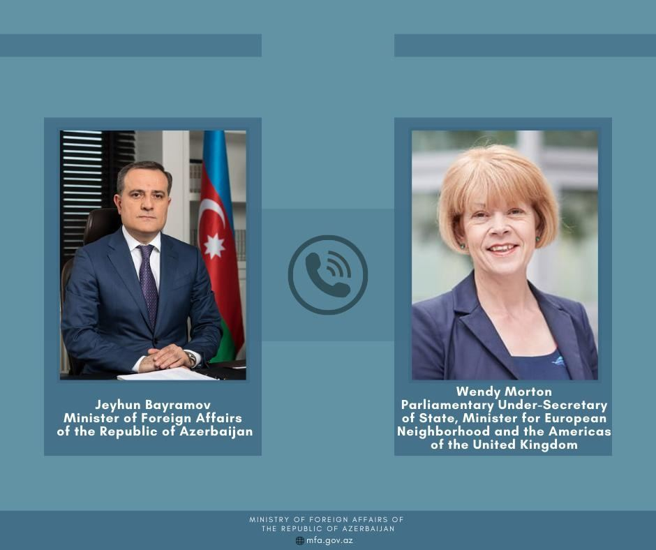 Azerbaijani FM holds phone conversation with British minister