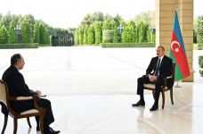 President Ilham Aliyev interviewed by Russian Interfax agency (PHOTO) - Gallery Thumbnail