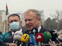 Belarusian ambassador arrives in Ganja to visit territories destroyed by Armenian attack (PHOTO) - Gallery Thumbnail