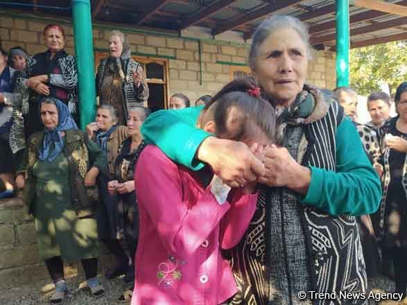 Farewell ceremony held for 7-year-old girl killed due to Armenian missile attack (PHOTO)